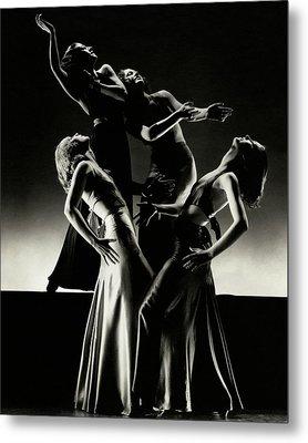 Four Dancers Of The Albertina Rasch Ballet Group Metal Print