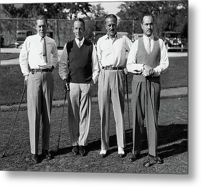 Four Men On A Golf Course Metal Print