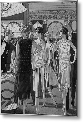 Four Women In Evening Wear Metal Print