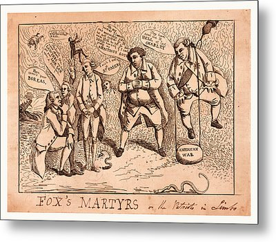 Foxs Martyrs Or The Patriots In Limbo, England  Publisher Metal Print by English School