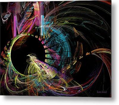 Fractal - Black Hole Metal Print by Susan Savad