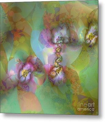 Fractal Blossoms Metal Print by Ursula Freer