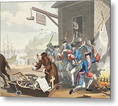 France, Illustration From Hogarth Metal Print by William Hogarth