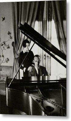 Fred And Adele Astaire At A Piano Metal Print by Cecil Beaton
