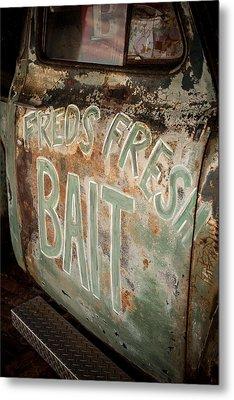 Freds Fresh Bait Metal Print by Paul Bartoszek