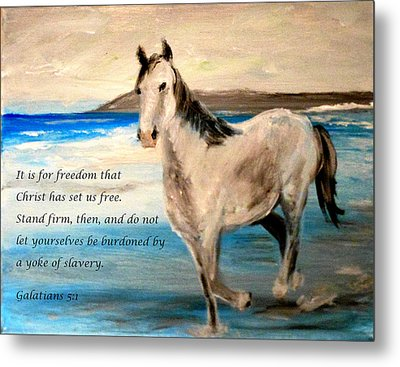 Freedom Metal Print by Amanda Dinan