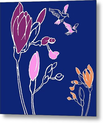 Freesia Metal Print by Anna Platts