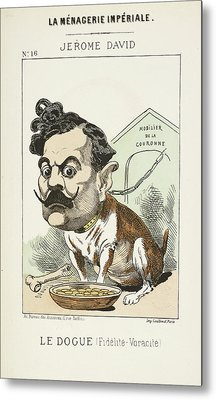French Caricature - Le Dougue Metal Print by British Library