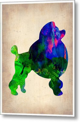 French Poodle Watercolor Metal Print by Naxart Studio