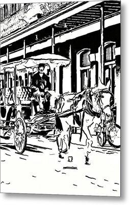 French Quarter Wheels 2 Metal Print by Steve Harrington