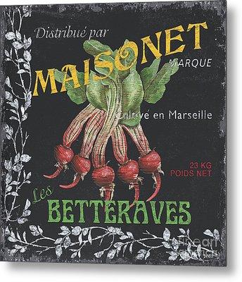 French Veggie Labels 2 Metal Print by Debbie DeWitt
