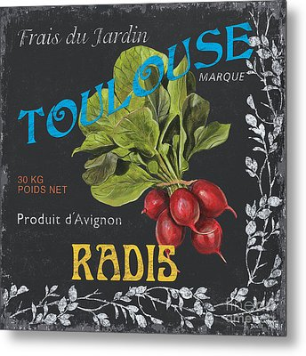 French Veggie Labels 3 Metal Print by Debbie DeWitt