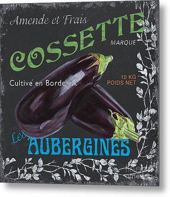 French Veggie Labels 4 Metal Print by Debbie DeWitt