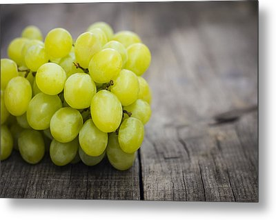 Fresh Green Grapes Metal Print by Aged Pixel