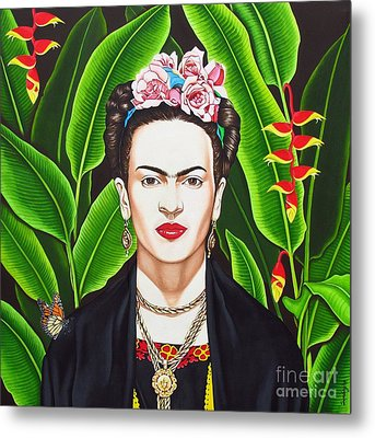 Metal Print featuring the painting Frida by Joseph Sonday