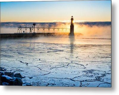 Frigid Sunrise Fog  Metal Print