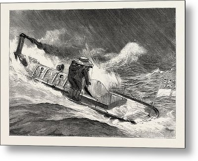 From Hong Kong To Macao In A Torpedo Boat, Full Speed Metal Print