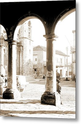 Front Of Cathedral, A Bit Of Old Havana, Cuba, Cathedrals Metal Print by Litz Collection