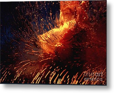 Metal Print featuring the photograph Frozen Carnation by Randi Grace Nilsberg