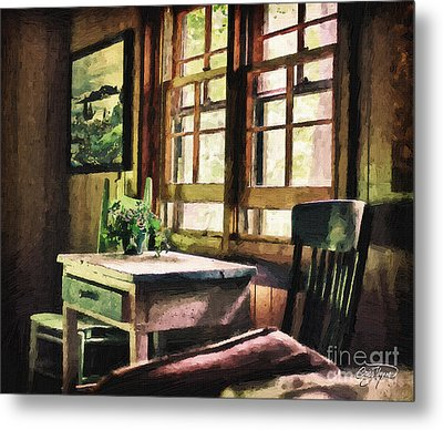 Frozen In Time - Oil Texture Metal Print by Cris Hayes