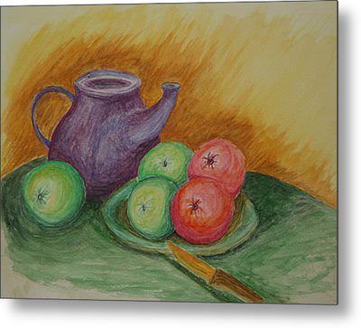 Fruit And Pot Metal Print by Paul Morgan
