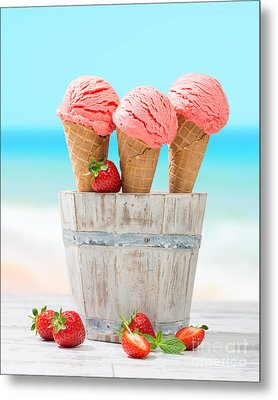 Fruit Ice Cream Metal Print by Amanda Elwell