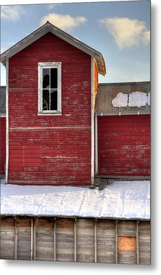 Ft Collins Barn 13496 Metal Print by Jerry Sodorff