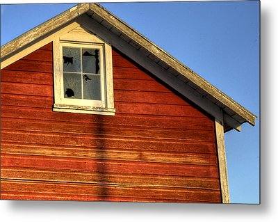 Ft Collins Barn Sunset 2 13508 Metal Print by Jerry Sodorff