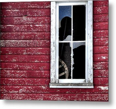 Ft Collins Barn Window 13568 Metal Print by Jerry Sodorff