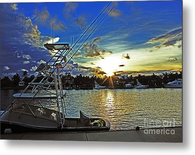 Ft. Lauderdale Sunset Metal Print by Alison Tomich