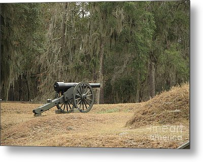 Ft. Mcallister Cannon 2 In Color Metal Print