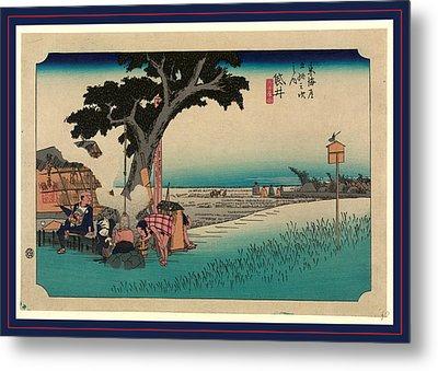 Fukuroi, Ando Between 1833 And 1836, Printed Later Metal Print