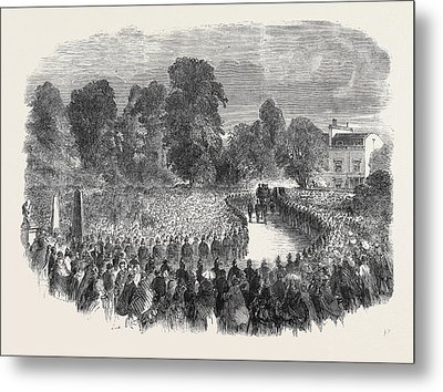 Funeral Of Mr Braidwood The Late Chief Of The London Fire Metal Print by English School