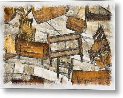 Furniture Metal Print by Trish Tritz