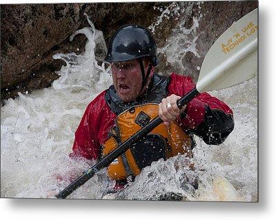 Gallatin Kayaker  Metal Print by Jason Standiford
