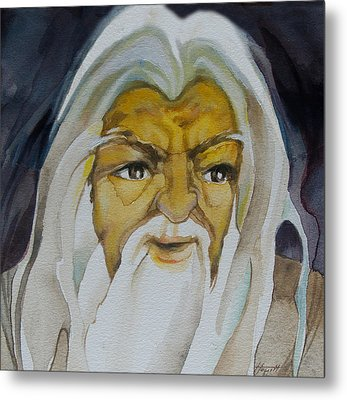 Gandalf Headstudy Metal Print by Patricia Howitt