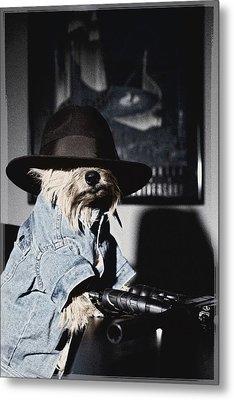 Gangster Dog Metal Print by Susan Stone