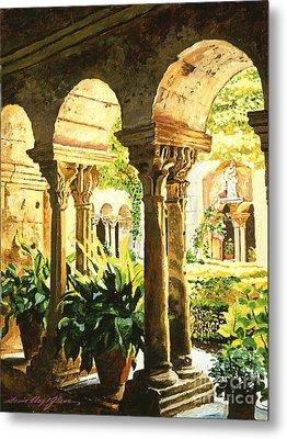 Garden At Saint Remy Provence Metal Print by David Lloyd Glover