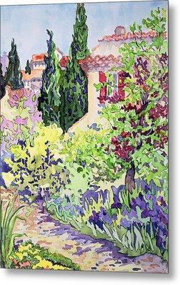 Garden At Vaison Metal Print by Julia Gibson