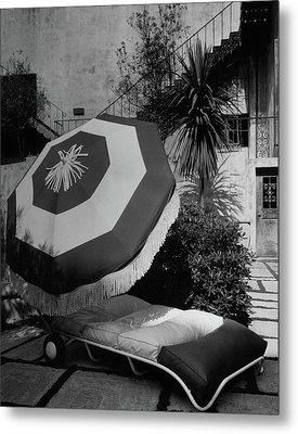 Garden Chaise Lounge Metal Print