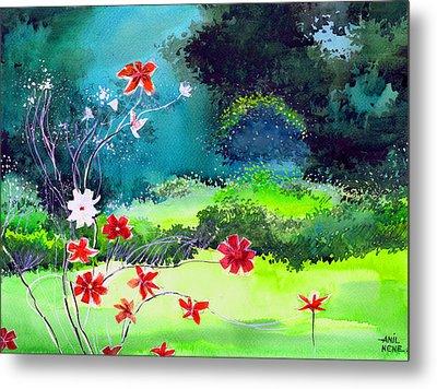 Garden Magic Metal Print by Anil Nene