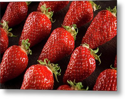 Gariguette Strawberries Metal Print