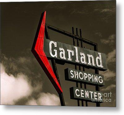 Garland Texas Shopping Metal Print by Sonja Quintero