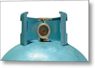 Gas Cylinder Valve Closeup Metal Print by Allan Swart