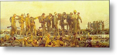 Gassed Metal Print by Pg Reproductions