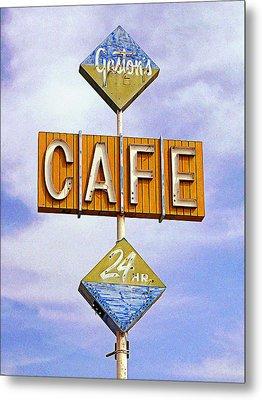 Gaston's Cafe Metal Print by Ron Regalado