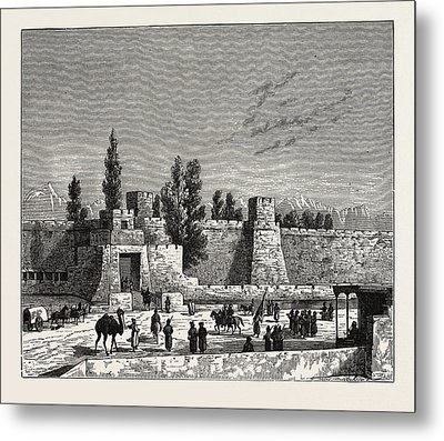 Gate Of The Fort Of Tangy-shahr, Five Miles From Kashgar Metal Print by English School