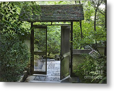 Gates Of Tranquility Metal Print by Sandra Bronstein
