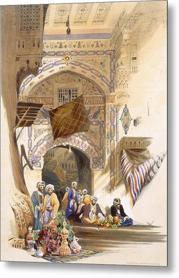 Gateway Of A Bazaar, Grand Cairo, Pub Metal Print by A. Margaretta Burr