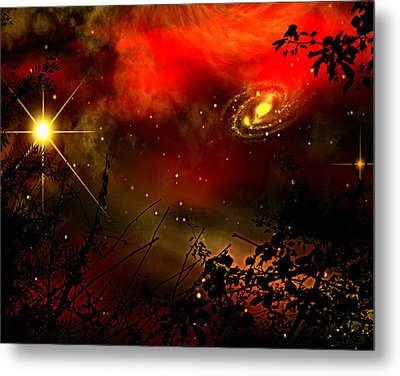 Metal Print featuring the painting Gazing The Galaxy by Persephone Artworks